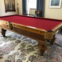 J.E. Came Antique Pool Table