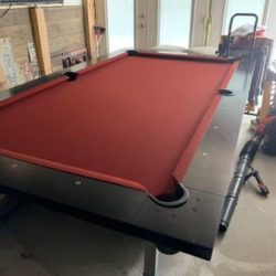 "8'-6"" Slate Pool Table"