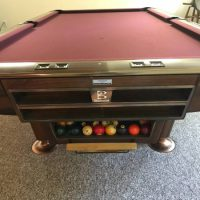 Brunswick 9' Gold Pool Table