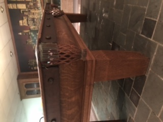 Beautiful Antique Oliver Briggs Electric Cushion  Pool Table.