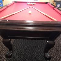 EXCELLENT CONDITION - BRUNSWICK SLATE AMERICAN POOL TABLE